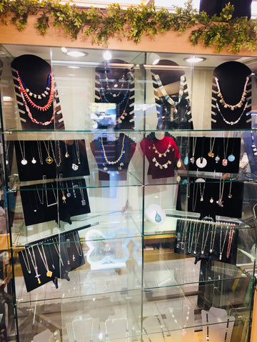 Beaded necklaces at Rubini Jewelers