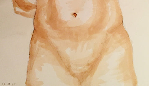 Detail of hips Painting by Joanna Rubini