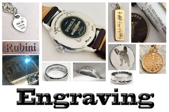 Engraving by Rubini Jewelers in Old Town Alexandria VA 703-548-5509
