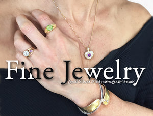 Link to Rubini Jewelers, since 1975 in Old Town Alexandria Virginia, Fine Jewelry- Gold, Silver, Platinum, Diamonds, Gemstones. Amethyst Heart pendant, Gold Diamonds Bracelet, Diamond Ring, Silver Bracelet, Peridot Gold Ring,