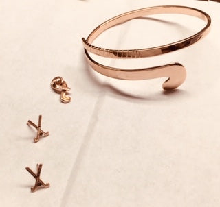 Rose Gold Field Hockey Jewelry by Rubini Jewelers