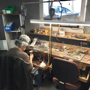 Bench Jeweler at Rubini Jewelers in Old Town Alexandria VA