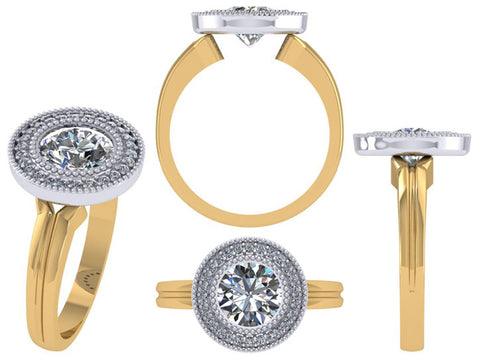 Custom Engagement Ring Makeover Reusing Shank and Diamond by Rubini Jewelers