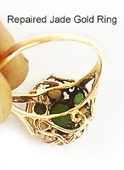 Repaired Jade Gold Ring