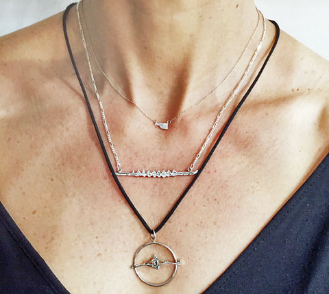 Rowing Necklaces and Pendants by Rubini Jewelers