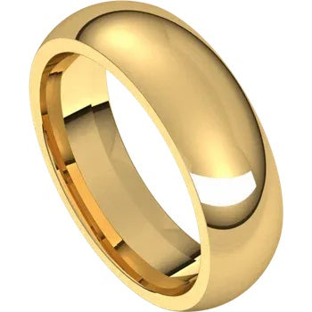Wedding band of Yellow Gold