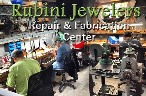Rubini Jewelers Workshop for jewelry repairs and fabrication, located in Old Town Alexandria VA
