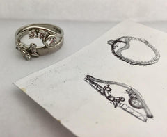 Vintage Ring Drawing & Final Photo