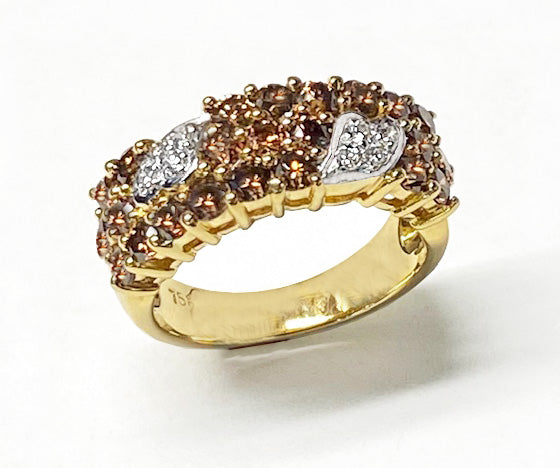 18Kt Gold Chocolate & White Diamonds Ring at Rubini Jewelers