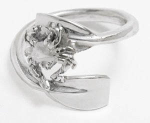 2 Bypassing Rowing Blades with Crab Ring Sterling Silver, by Rubini Jewelers
