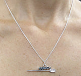 COACH with Hatchet Oar Pendant- Sterling Silver