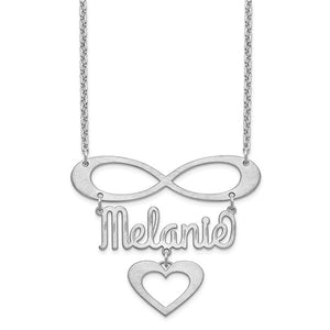 Personalized Name Heart & Infinity Symbol Necklace