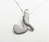Sterling Silver Looped Over Field Hockey Stick Pendant by Rubini Jewelers