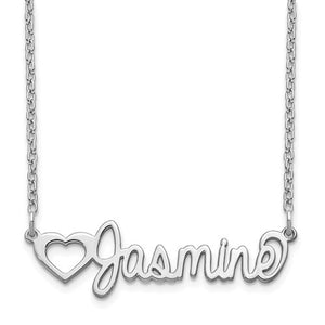 Personalized Heart & Name Necklace- Sterling Silver