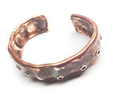 Copper and Silver Ocean Inspired Cuff Bracelet by Rubini Jewelers, angled view