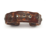 Copper and Silver Ocean Inspired Cuff Bracelet by Rubini Jewelers, top view