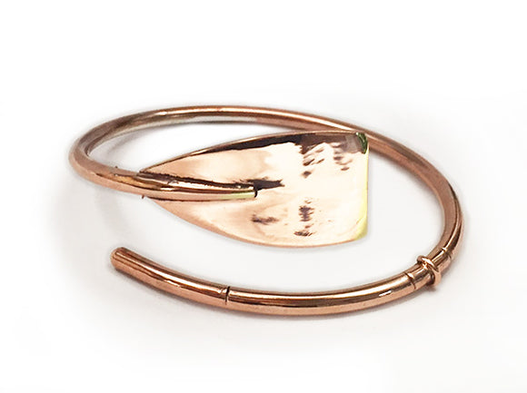 Copper Plated Extra Large Tulip Oar Wrap Rowing Bracelet, by Rubini Jewelers