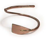 Copper Plated Extra Large Tulip Oar Wrap Rowing Bracelet, by Rubini Jewelers, shown open position
