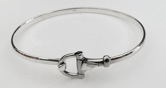 Silver Hook and Eye Catch Rowing Bracelet by Rubini Jewelers