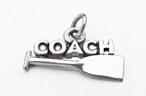 Coach with Dragon Boat Paddle Pendant, by Rubini Jewelers