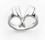 Crossed Rowing Hatchets with Shaft Ring by Rubini Jewelers