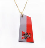 Custom Aluminum Team Oar on Gold Filled Necklace by Rubini Jewelers