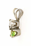 14Kt Gold Diamond and Tsavorite Garnet Petite Pendant by Rubini Jewelers, side view