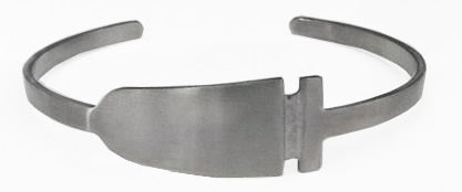Dragon Boat Paddle Handle to Blade Stainless Steel Cuff Bracelet by Rubini Jewelers