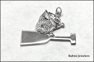 Dragon Boat: DB Paddle with Dragon by Rubini Jewelers