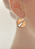 Dragon Boat Paddle on Copper Disc Earrings