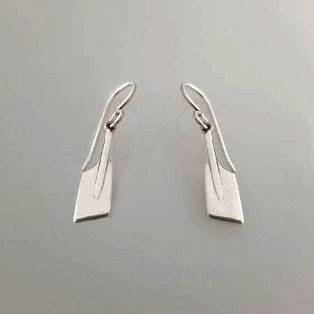 Small Rowing Blades on Wire Earrings