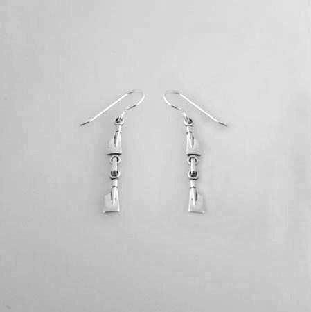 Two Petite Rowing Blades Dangle Earrings by Rubini Jewelers