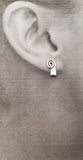 Swirl with Petite Rowing Hatchet Blade Post Earrings by Rubini Jewelers