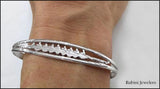 Eight Oar Rowing Boat in Split Cuff Bracelet by Rubini Jewelers