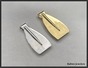 Extra Large Rowing Blade Money Clip by Rubini Jewelers