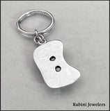 Extra Large Rowing Seat Keyring in Sterling Silver by Rubini Jewelers