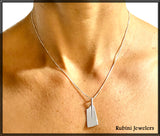 Extra Long Hatchet Blade Rowing Pendant by Rubini Jewelers