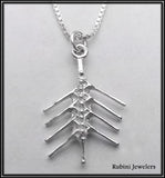 Fishbone Eight Pendant Sterling Silver, by Rubini Jewelers