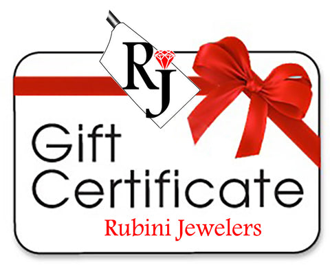 Gift Certificate at Rubini Jewelers