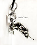 Garnet Eyed 3D Dragon with Dragon Paddle Pendant by Rubini Jewelers