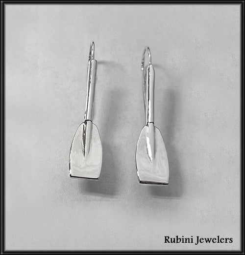 Half Tulip Oar Wire Earrings by Rubini Jewelers.