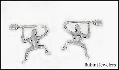 Happy Paddlers, Rowers, Dragon Boaters or UPBers Post Earring by Rubini Jewelers