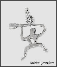 Happy Paddlers, Rowers, Dragon Boaters or UPBers Pendant or Charm by Rubini Jewelers