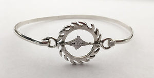 Sun Spiral Single Rower Bracelet