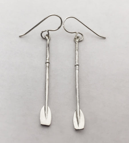 Sterling Silver Full Small Tulip Oar French Wire Earrings