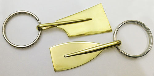 Extra Large Brass Rowing Blade Key Ring by Rubini Jewelers