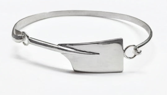 Large Rowing Blade Hinged Bangle Bracelet  by Rubini Jewelers