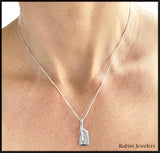 Large Hatchet Rowing Blade Pendant by Rubini Jewelers