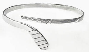 Large Sterling Silver Ice Hockey Stick Wrap Bracelet by Rubini Jewelers