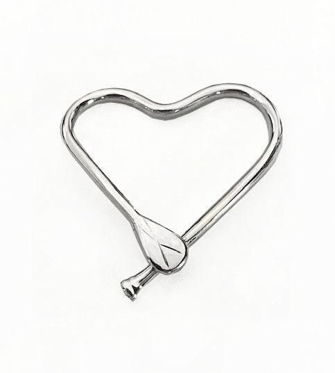 Free-Form Silver Medium Heart SUP Pendant by Rubini Jewelers